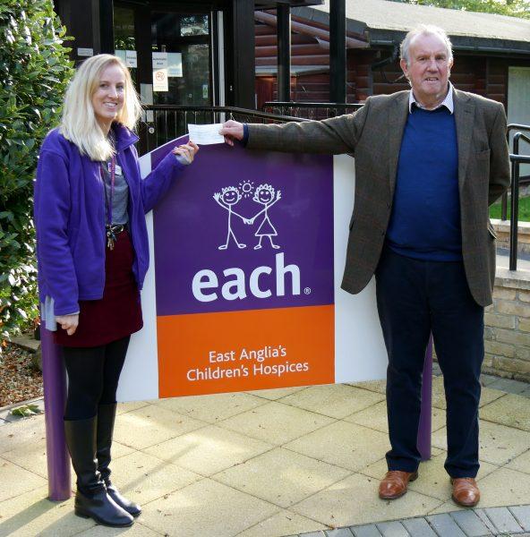 Sophie Baker, EACH Community Fundraiser and Steve Wilson, Grantchester Charity 3K